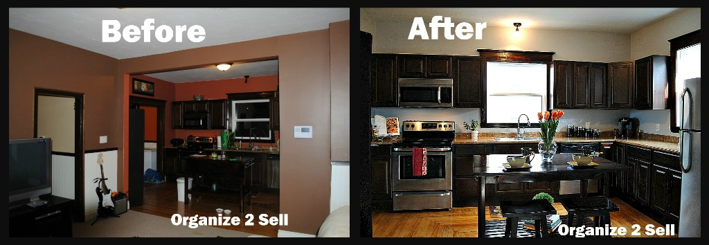 Before and after staging pics for Home staging before and after